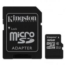 Κάρτα Μνήμης MicroSDHC Kingston 32GB Class10 + Adaptor Canvas Select
